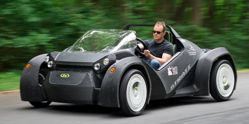 What can you print with a 3d printer? How about a car.. Image source