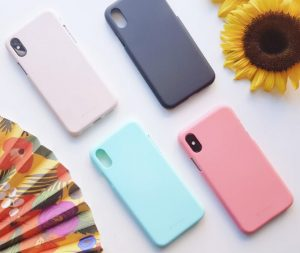 Different colored cases